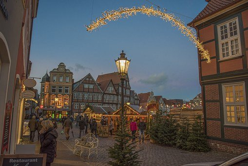 Stade, Christmas, Christmas Lights, Christmas Market