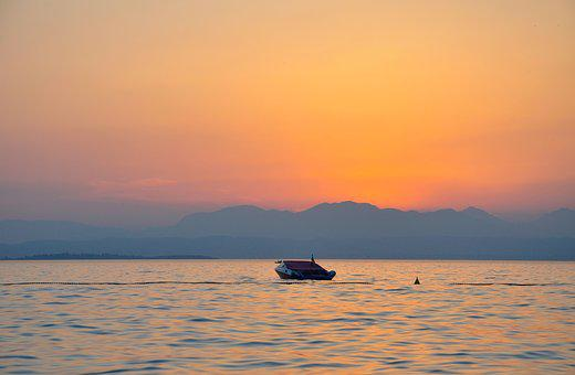 Summer, Sunset, Landscape, Sunny, Sea, Water