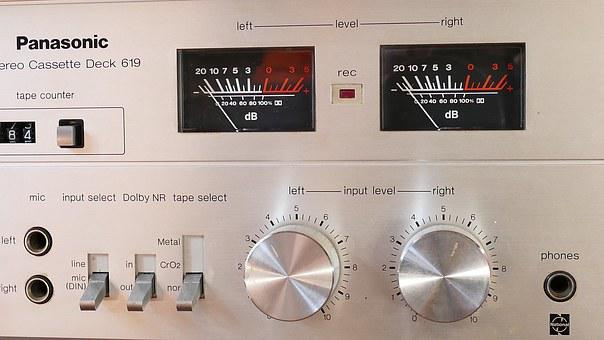 Stereo, Dials, Equipment, Music, Technology, Sound