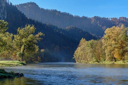 Mountain River, Mountains, Morning, The Fog, Wallpaper