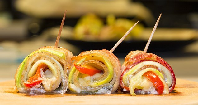 Bacon Rolls, Food, Tasty, Vegetables, Vegetable Roll