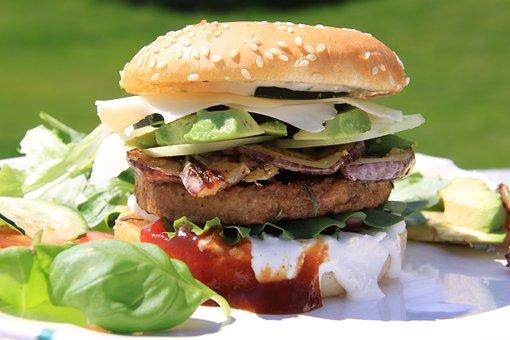 Eat, Burger, Onion, Avocado, Veggi, Veggie, Vegi, Food