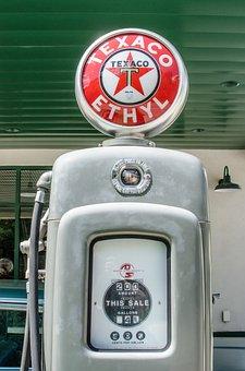 Antique Gas Pump, Vintage, Retro, Gas Station, Gas