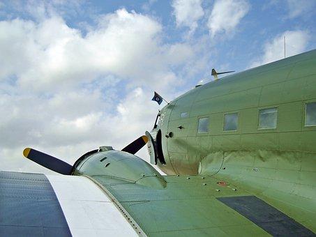 Airplane, Aircraft, Plane, Dakota, War, World War