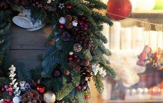 Christmas Market, Christmas Fair, Christmas, Wreath