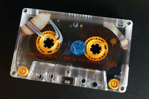 Cassette, Tape, Music, Retro, Audio, Media, Stereo