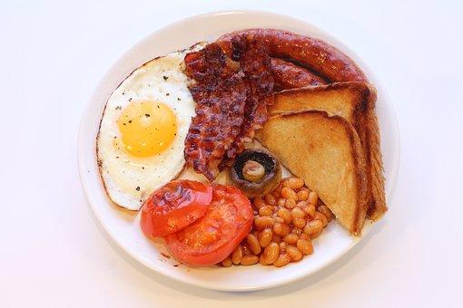 English Breakfast, Great Britain, Bacon, Eating