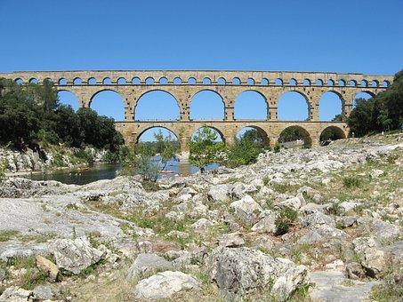 Bridge, Gard, Heritage, Aqueduct, Monument, Provence