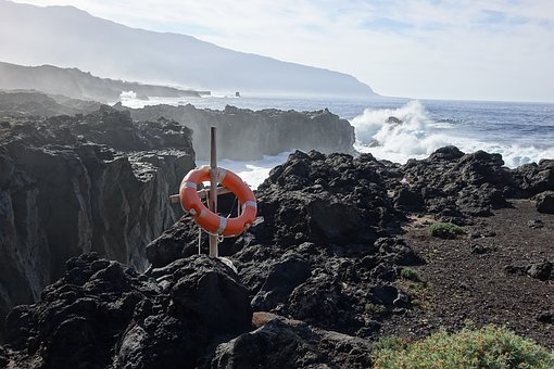 Hierro, Sea, Rescue, Waves, Lifebuoy, Canary Islands
