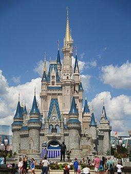 Castle, Orlando, Disney, Cinderella, Princess