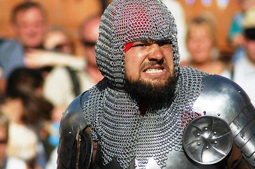 Tournament, Clash, Man, Armor, Historical Fencing