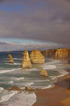Australia, Great Ocean Road, Coast, Surf