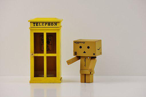 Phone Booth, Danbo, Phone, Figure, Funny