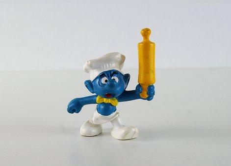 Smurf, Smurfs, Cook Smurf, Figure, Toys, Decoration