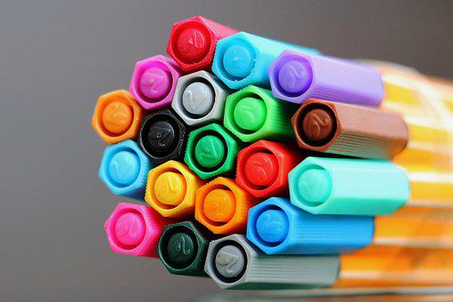 Felt Tip Pens, Colorful, Color, Draw, Paint, Stationery