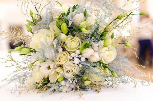 Wedding, Bouquet, Flower, White, Floral, Beautiful