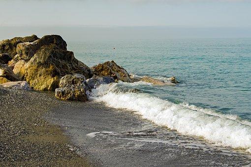 Onda, Scoglio, Foreshore, Froth, Sea, Calabria