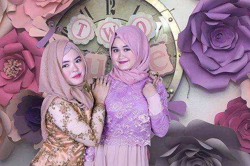 Women, Gorgeous, Indonesian, Face, Hijab, Islam