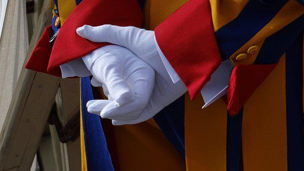 Patience, Gloves, Swiss Guard, White Gloves, Hands