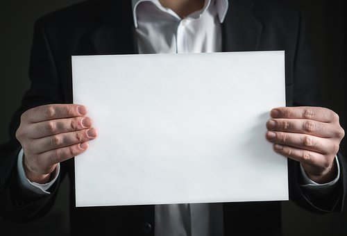 Paper, Hand, Business, Card, Man, Holding, Suit, Hold