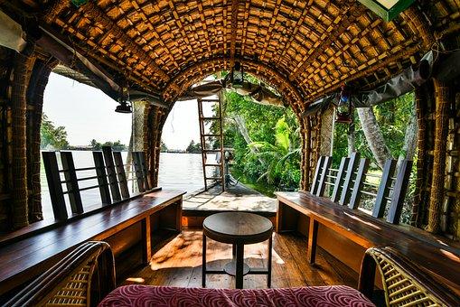 Houseboat, Backwater, Water, Kerala, India, Tourism