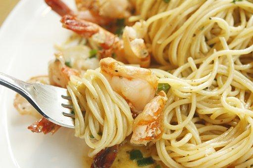 Pasta, Shrimp, Restaurant, If, Olive, Food, Side Dishes