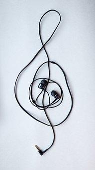 Headsets, Nota, The Treble Clef, Music, Art, Creativity