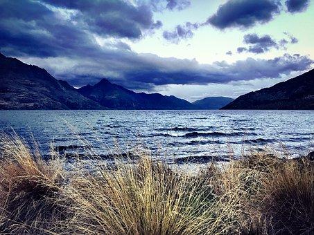 Queenstown, Wakatipu, New, Zealand, Landscape, Lake