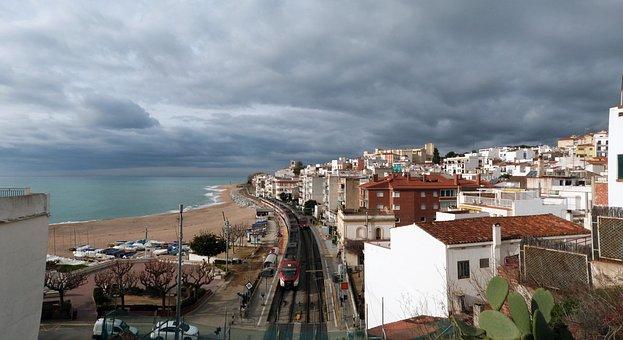 View, Panoramic, Sea, Mediterranean, Terrace, Sant Pol