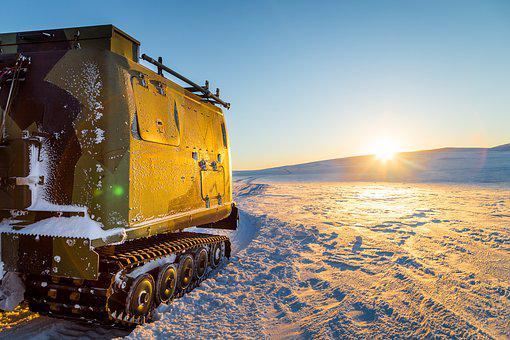 Snow, Winter, Norway, Army, Cold, Sundown, Beltevogn