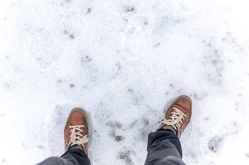 Winter, Snow, Frost, Ice, Cold, Step, Foot, Weather