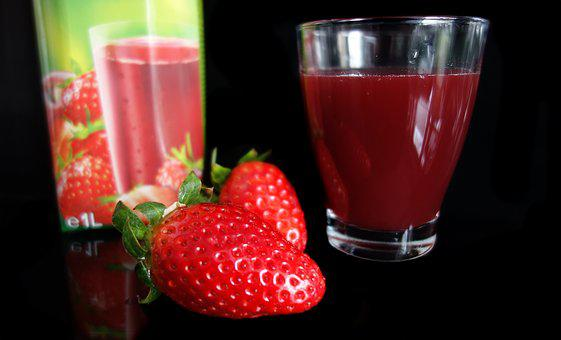 Strawberry, Strawberry Juice, Fruit, Healthy, Delicious