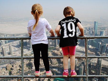 Dubai, View, Girl, Fence Brave, Gorge, Stunning