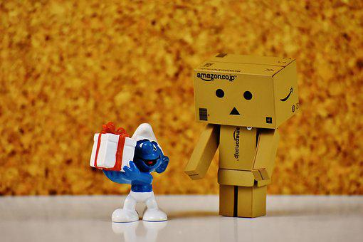 Danbo, Smurf, Gift, Give, Made, Love, Surprise, Figure