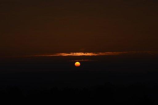 Sun, Sunset, Sunrise, Greiz, Thuringia Germany, Sky