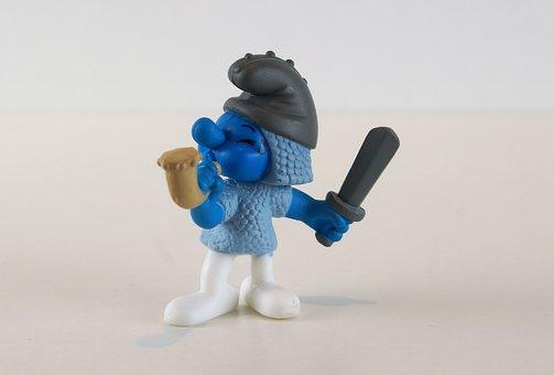 Smurf, Smurfs, Knight Smurf, Figure, Toys, Decoration