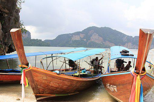 Thailand, Boat, Journey, Tourism, Vacation, Water