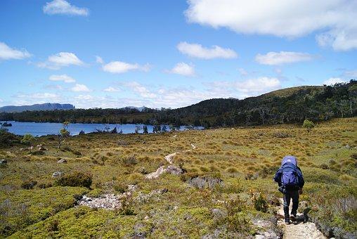 Hiking, Overland Track, Tasmania, Windermere, Lake