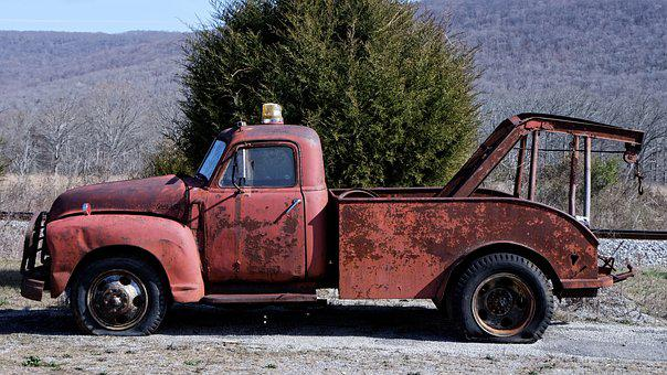 Wrecker, Tow Truck, Antique, Old, Truck, Vehicle