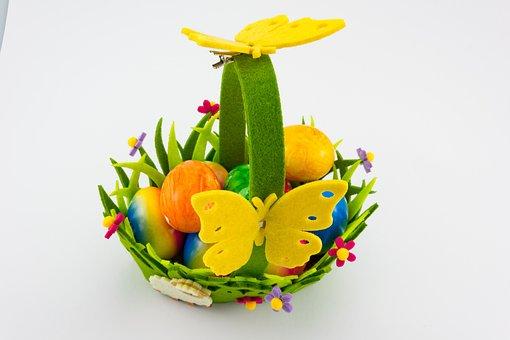 Easter, Basket, Easter Eggs, Egg, Colorful, Custom
