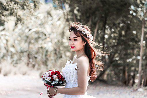 Bride, Woman, Wedding, Single, White Sore, Alone