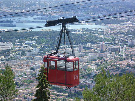Cable Car, Toulon, Cabin, Gondola