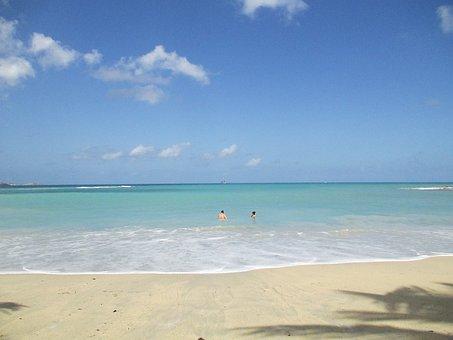 Beach, Wave, Turquoise, Water, Antigua, Caribbean