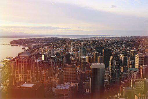 Seattle, City, Skyline, Washington, Urban, Cityscape