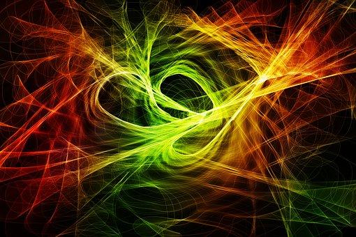 Particles, Wave, Circle, Color, Colorful, Structure