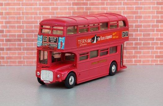 Model Car, Double Decker Bus, London, Double Decker