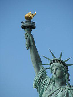 Liberty, Lady, New York, Freedom, Statue, Torch