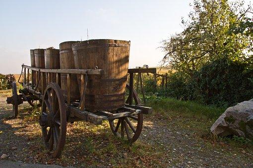 Cart, Wine, Wine Growers, Winemaker, Hungary