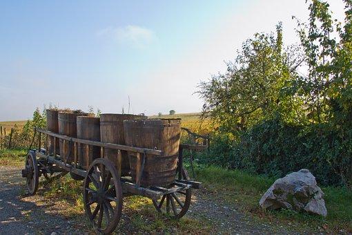 Cart, Winemaker, Winegrowing, Hungary, Wine
