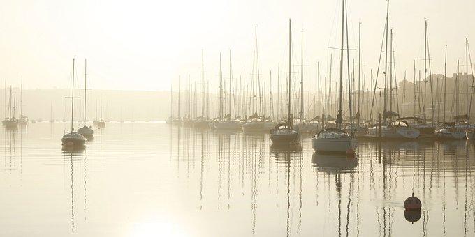 River, Yachts, Sunrise, Cork, Crosshaven, Ireland